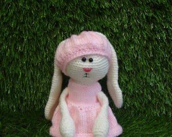 Bunny knitting, handmade