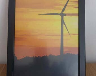 Windmill Picture In Frame