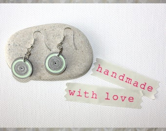 Earrings. Handmade paper jewellery. Paper jewelry.
