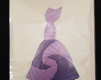 Handmade Purple Lady Iris Card