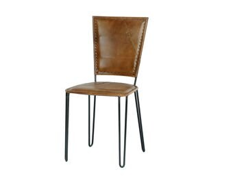 Inkredible Indien Leather Chair Iron Retro 43*47*87cm 14kg