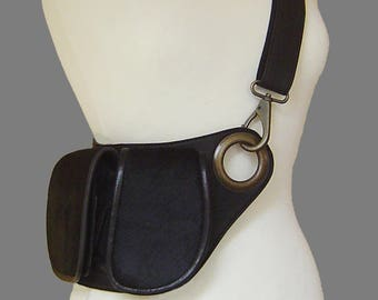 Waist bag/shoudertas; Black with coat