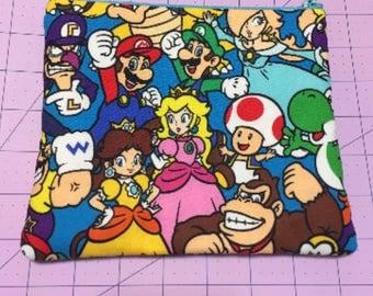 Retro video games makeup bag