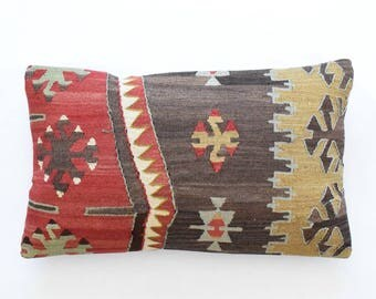 "Kilim rug pillow cover 16""x26"" (40x65cm) 012"