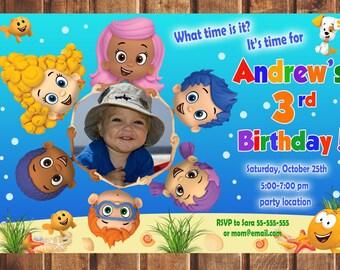 Bubble Guppies Invitation, Bubble Guppies Birthday Invitation, Bubble Guppies, Bubble Guppies Printable, Bubble Guppies Card -digital f