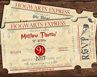 Harry Potter Birthday Invitation Template for good invitation sample