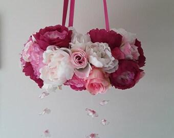 Floral mobile / Cot mobile / Nursery decor