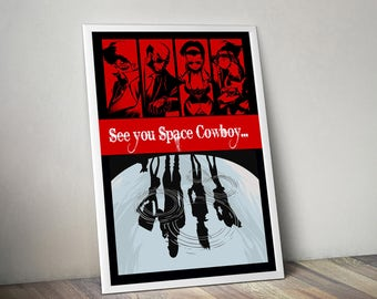 large cowboy bebop poster spike spiegel, Hause deko