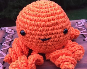 Crocheted Orange Octopus