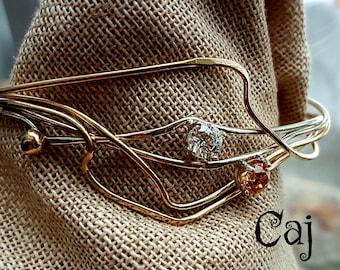 Artisan Statement Cuff Bracelet & Gems