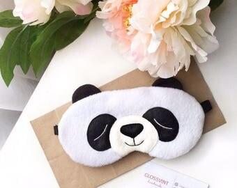 Panda sleep mask, Sleep mask, Sleeping mask, Sleep mask for women, Funny sleep mask, Eye Mask, Panda