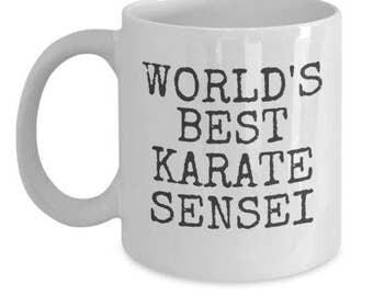 World's Best Karate Sensei 11oz Coffee Mug