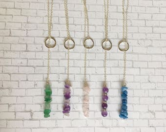 Crystal Toggle Necklace