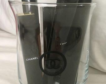 Glass makeup brush holder / cc inspired