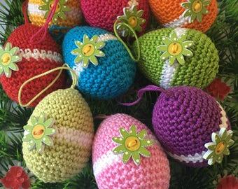 Handmade Easter egg pendants for the Easter tree