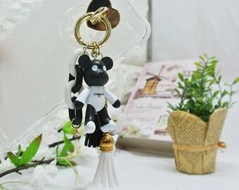 Cute toy cellphone accessories / Pretty cell phone decoration /Bear key chaim / king ring / Bag charm / cellphone charm