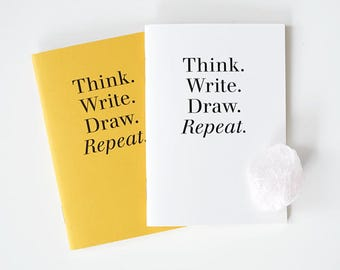 Pocket size Notebook set / 2 colors[Yellow,White] / A set of 2pcs / 03-n