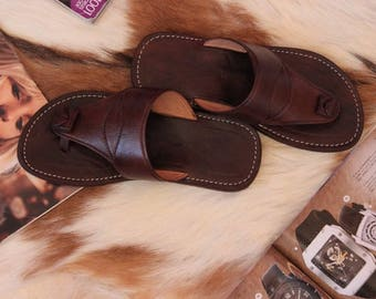 FREE SHIPPING!  Sandals in natural leather, leather sandals, handmade sandals, sandals, men, summer sandals, flip flops, leather Sandals men