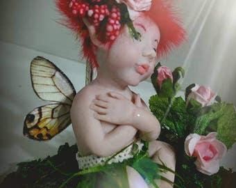 "OOAK baby FAIRY fae ART sculpture polimery-""Tang"""