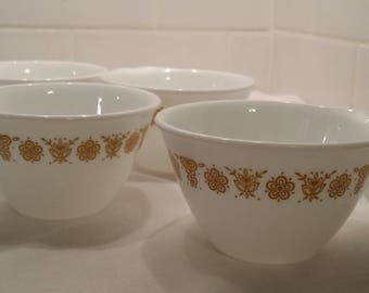 Butterfly Gold Corelle Mugs (4) cups Dish Hook Handle