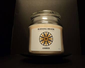 Amber 16oz Soy Wood Wick Candle