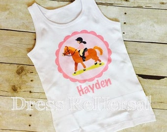 Equestrian horse tank or t with name