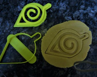 3D Printed Hidden Leaf Symbol Cookie Cutter / Fast shipping / Naruto