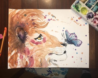 Frankie and the Butterfly - Original watercolor