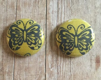 Fabric Butterfly Buttons