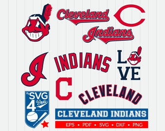 Cleveland Indians Cut Files, SVG Files, Baseball Clipart, Cricut Cleveland Indians, Cutting Files, Baseball DXF, Clipart, Instant Download