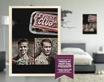 Fight Club poster, fan art, fight club print, fight club, digital design, cool posters, cool GIFTS, cool gift ideas, great posters, 1999