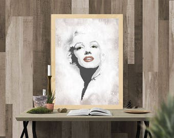 Marilyn Monroe, modern art, poster, wall art, famous, celebrity, Hollywood, home decor