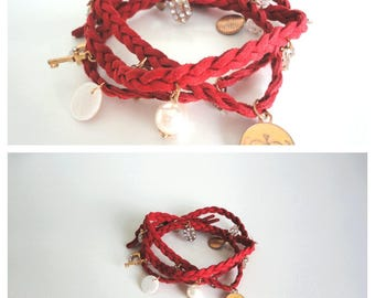 Red Wrapping Bracelet