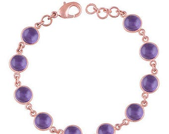 Handmade Exclusive Amethyst Fashion Brass Bracelet