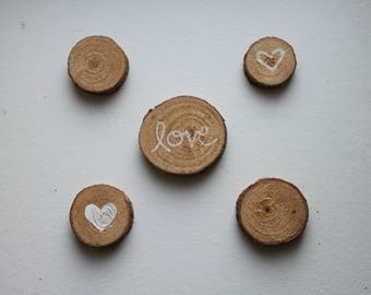 Decorated Love and Heart Magnets