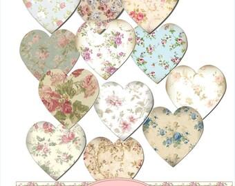 Instant Download Floral Heart Embelishments
