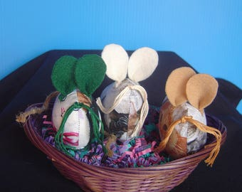 "Organic Catnip ""Three Blind Mice"" In A Basket For Your Kitty Cat!"
