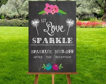 A4 Chalkboard Sparkler Sign