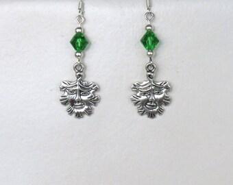 Earrings Green man - Pagan Celtic Wicca