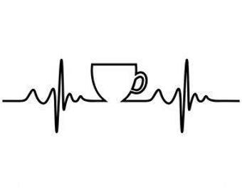 coffee decal / live for coffee decal / coffee sticker