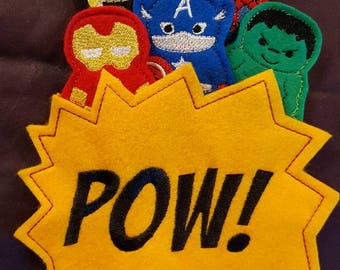 Super Hero Finger Puppets