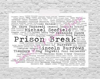 Prison Break / Tv Series / Movie Word Art Print A4