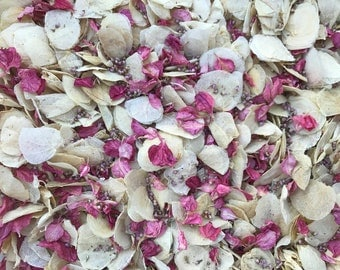 Pinkie Pie | Ivory & Raspberry | Real Petal Wedding Confetti | Biodegradable and 100% Natural | Wedding Throwing Confetti