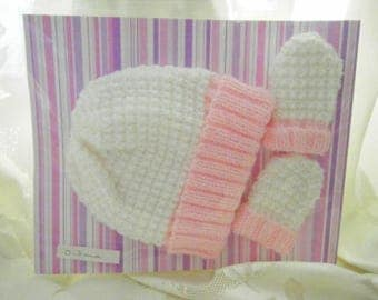 baby hat and mittens set
