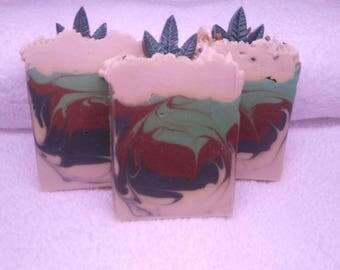 Cannabis Flower Dope Soap Handmade Artisan Soap