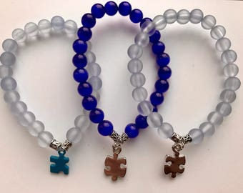 Autism Awareness Puzzle Piece Bracelet