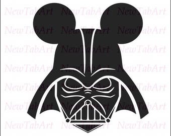 mickey ears svg star wars svg starwars svg disney svg files for cricut disney star wars svg Darth Vader mickey svg mickey ears silhouette