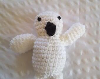 Crocheted Snowy Owl