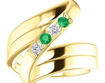 10k yellow gold mothers ring 4 stones with names