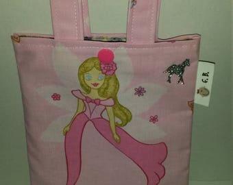 girls bag princess glittery cotton